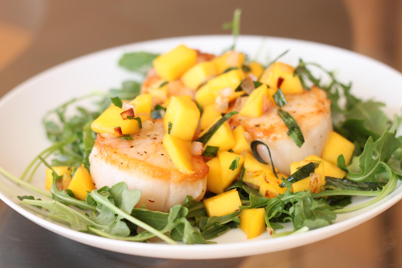 Салаты из морского гребешка рецепты с